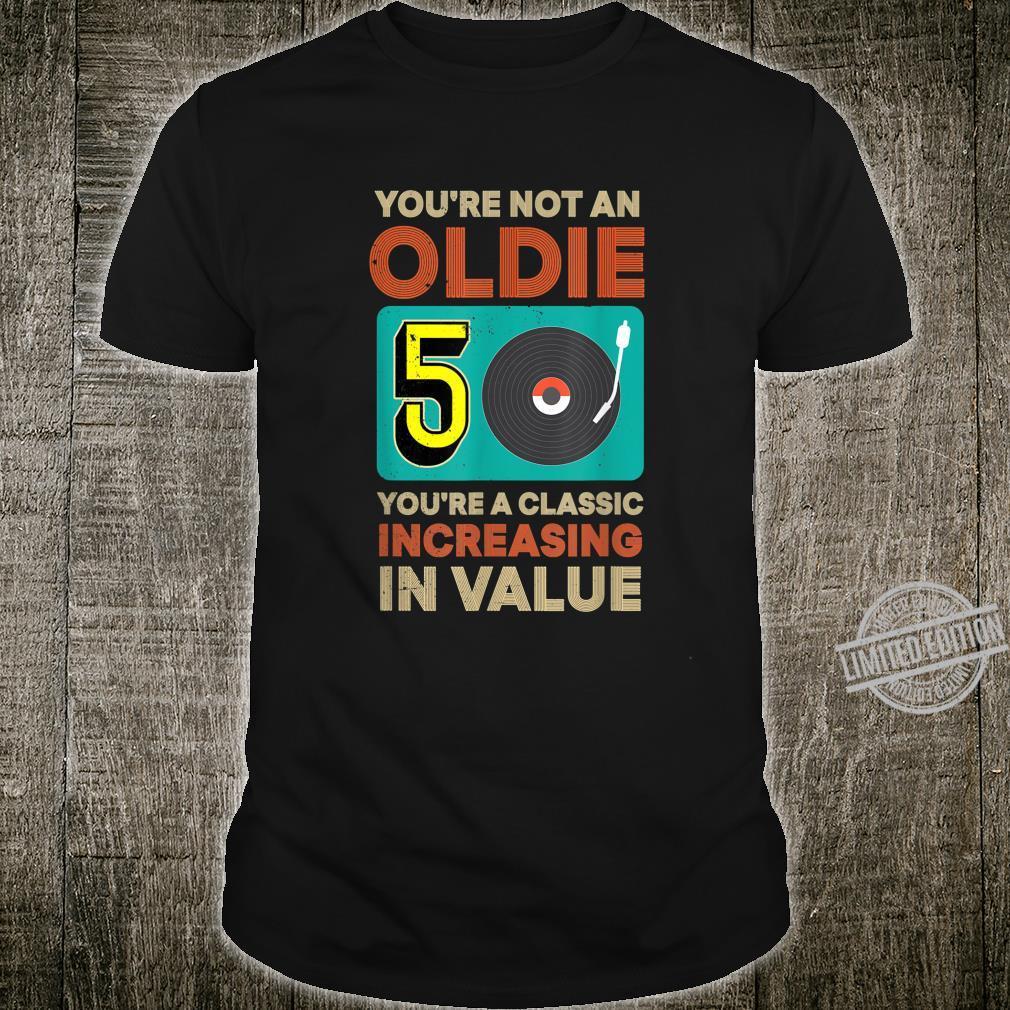 50. Geburtstag Männer You're Not An Oldie August 1970 Shirt
