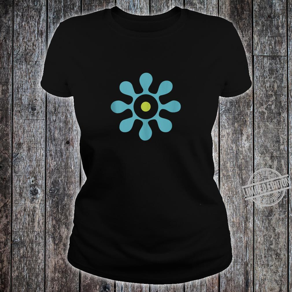 50s 60s Eclectic Abstract Shape Shirt ladies tee