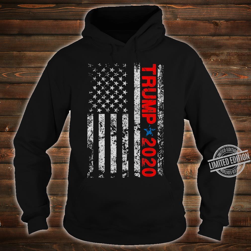 American USA Flag Trump 2020 Vintage Retro Shirt hoodie