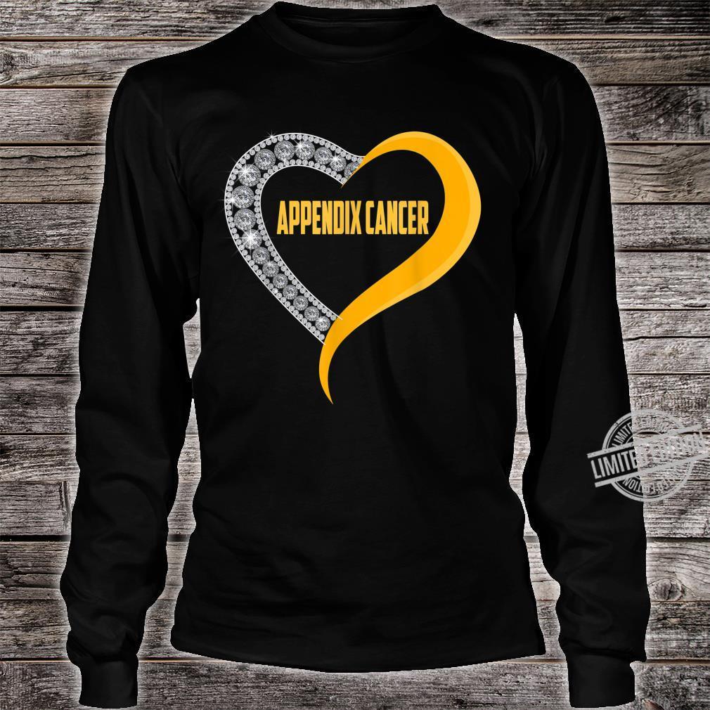 Appendix cancer heart survivor Shirt long sleeved