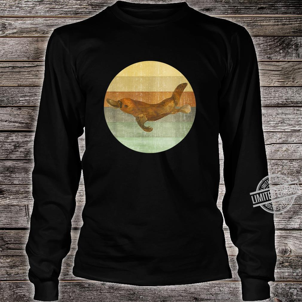 Platypus Happy Tee Shirt Design Long Sleeve Shirt