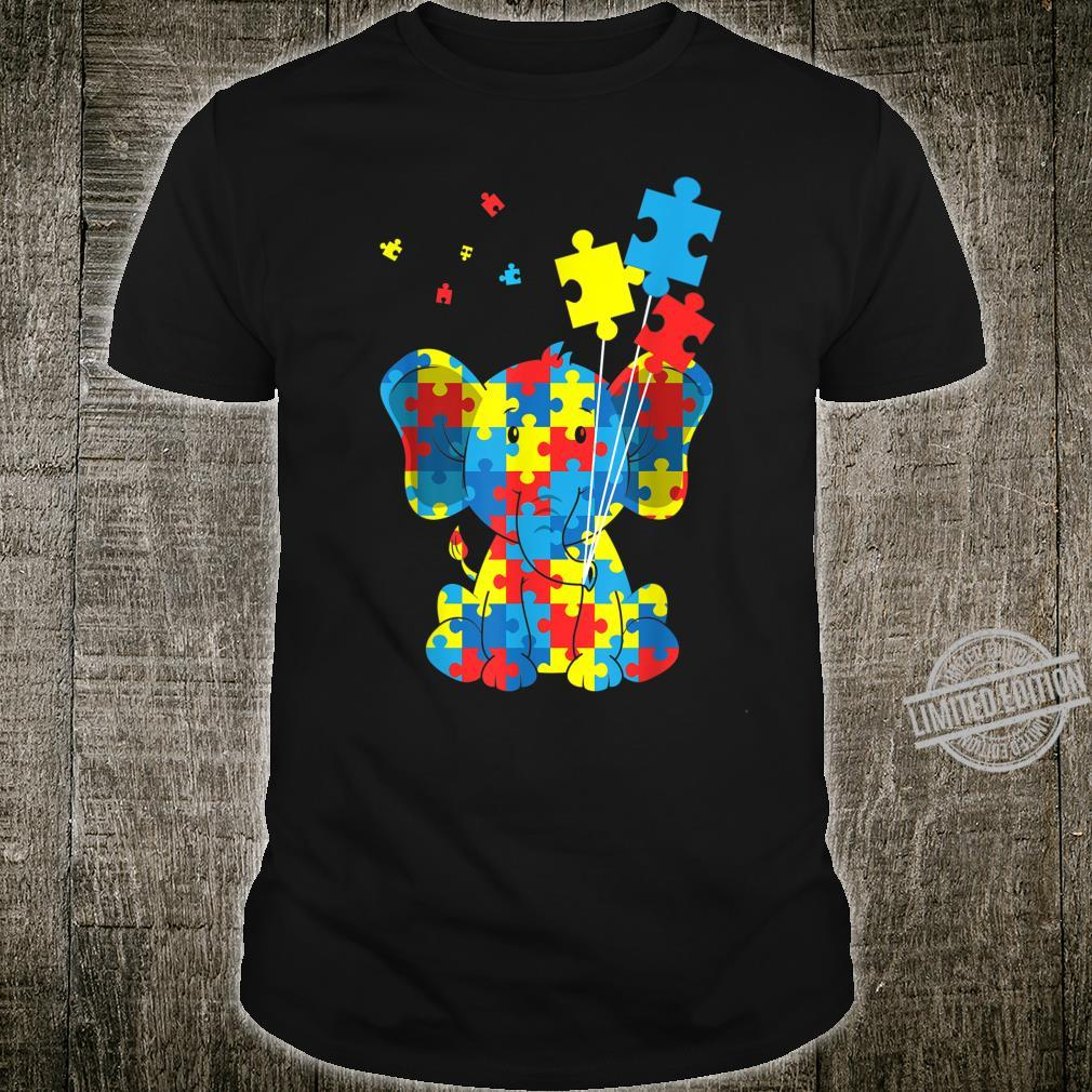 Autism Awareness Elephant Puzzle Pieces Embrace Difference Shirt