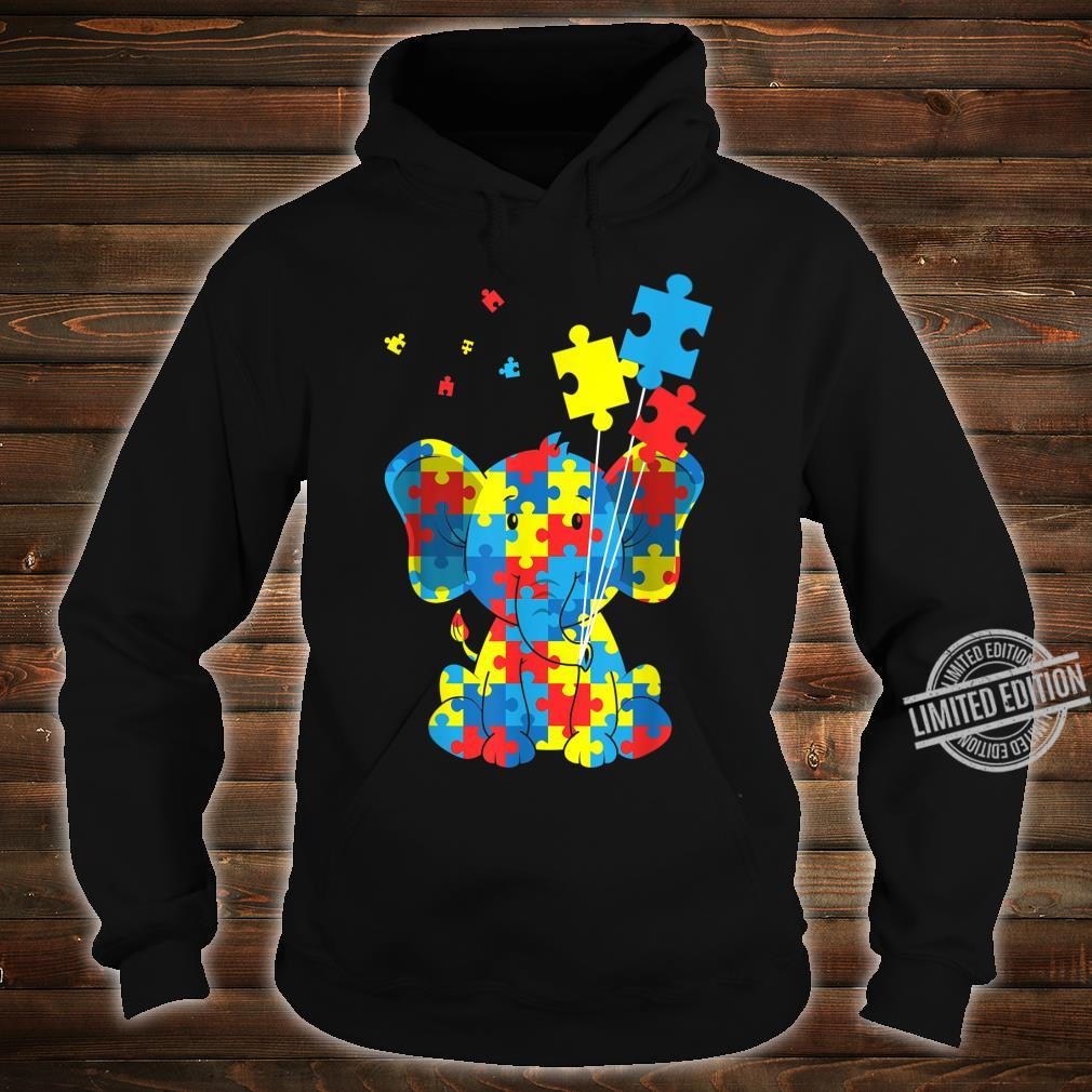 Autism Awareness Elephant Puzzle Pieces Embrace Difference Shirt hoodie