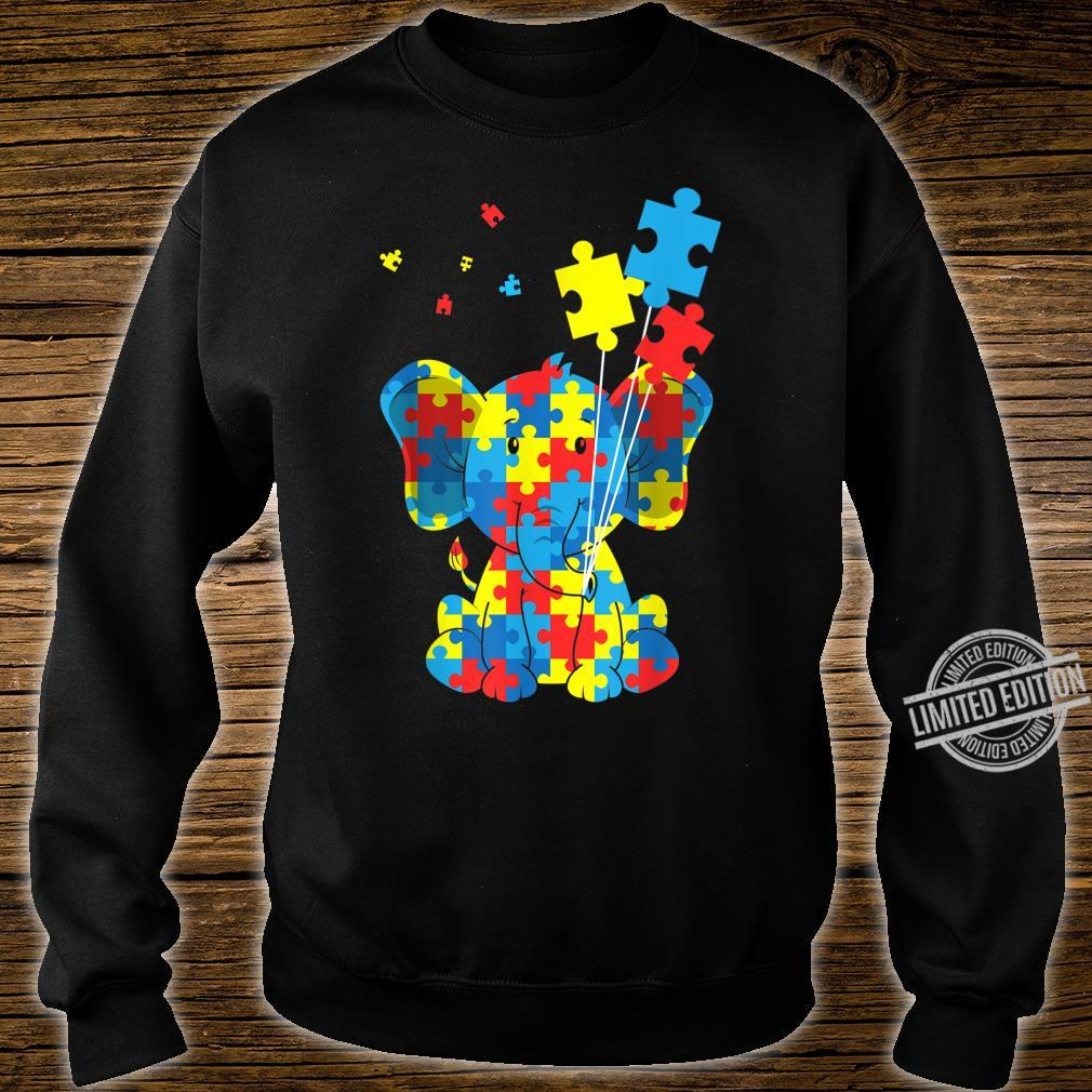 Autism Awareness Elephant Puzzle Pieces Embrace Difference Shirt sweater