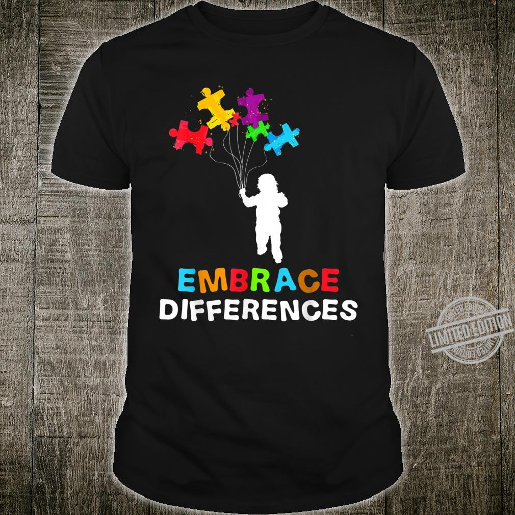 Autism Awareness Embrace Differences Puzzle Piece Shirt