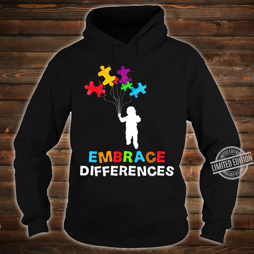Autism Awareness Embrace Differences Puzzle Piece Shirt hoodie