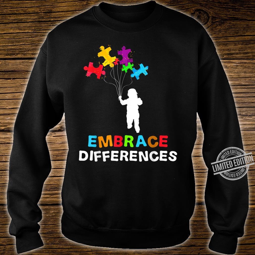 Autism Awareness Embrace Differences Puzzle Piece Shirt sweater