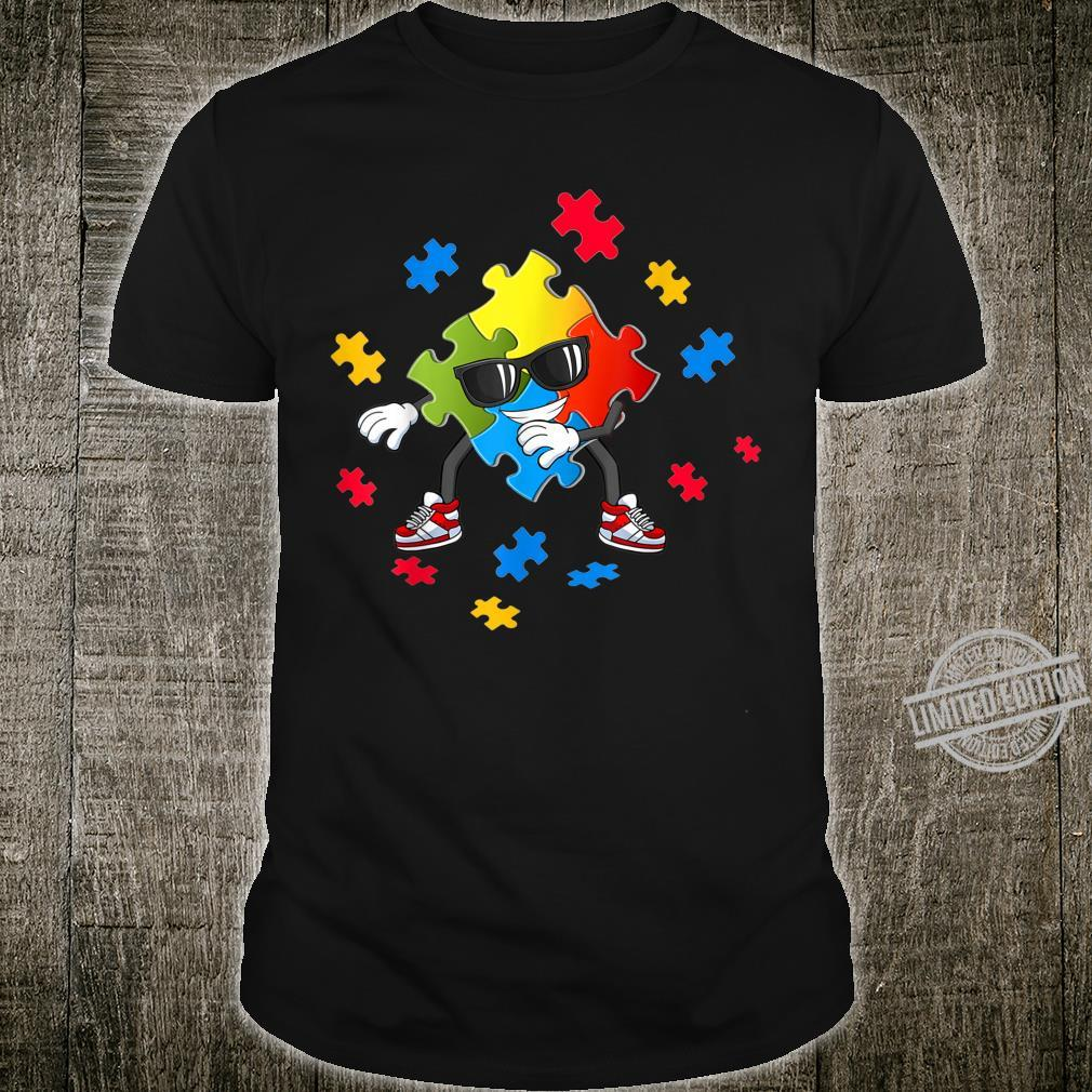 Autism Awareness Flossing Puzzle Pieces Girls Boys Shirt