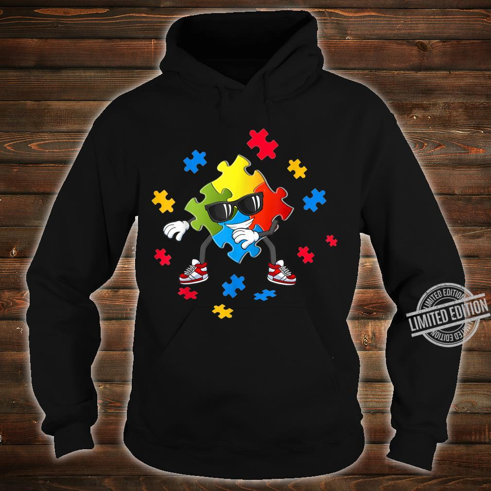 Autism Awareness Flossing Puzzle Pieces Girls Boys Shirt hoodie