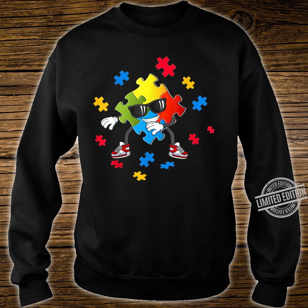 Autism Awareness Flossing Puzzle Pieces Girls Boys Shirt sweater