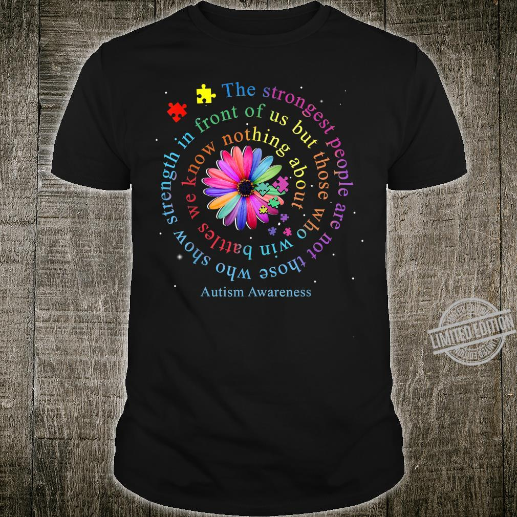 Autism Awareness Flower Puzzle Shirt