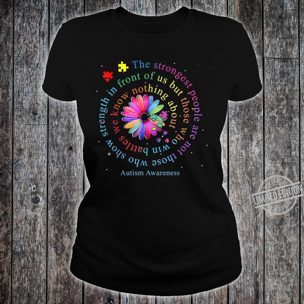 Autism Awareness Flower Puzzle Shirt ladies tee