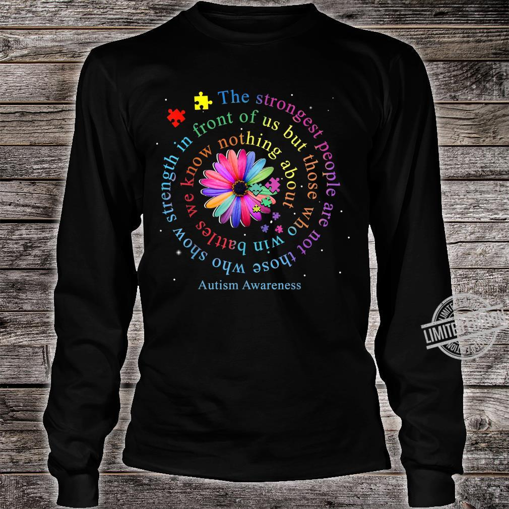 Autism Awareness Flower Puzzle Shirt long sleeved