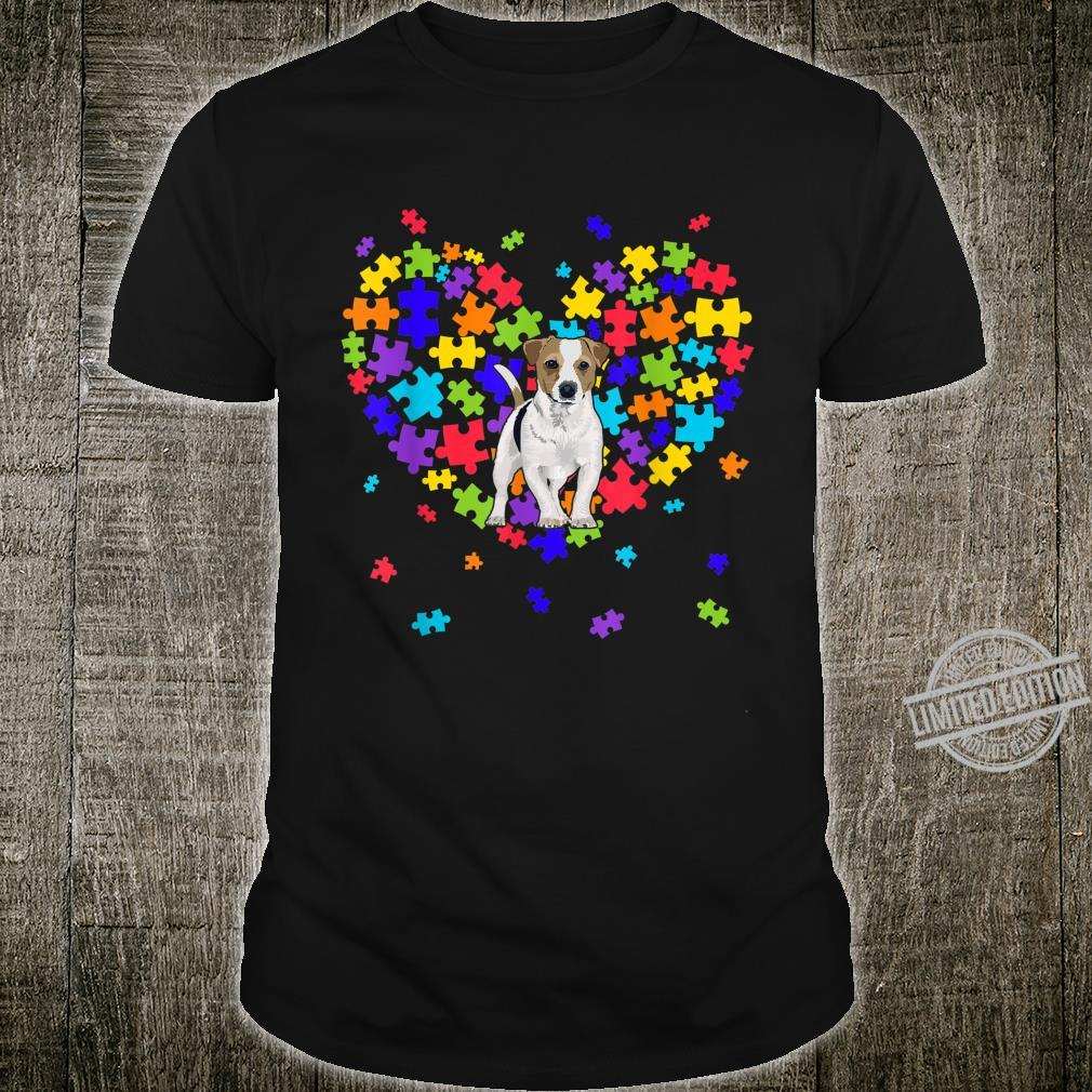 Autism Awareness Jack Russell Terrier Cute Heart Dog Dad Mom Shirt