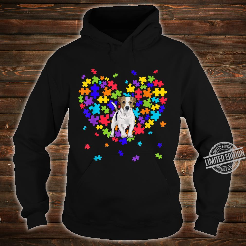 Autism Awareness Jack Russell Terrier Cute Heart Dog Dad Mom Shirt hoodie