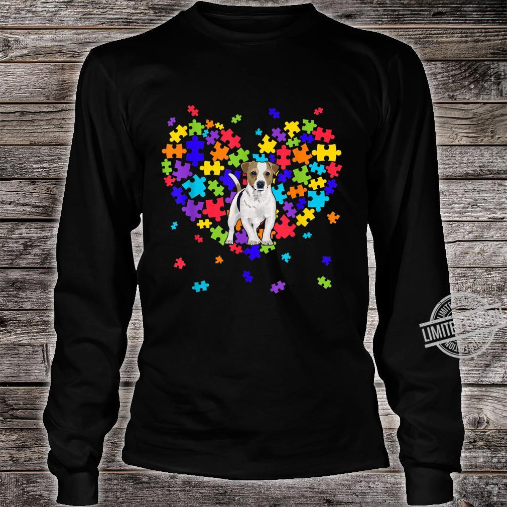 Autism Awareness Jack Russell Terrier Cute Heart Dog Dad Mom Shirt long sleeved