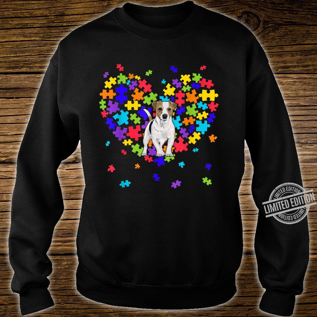 Autism Awareness Jack Russell Terrier Cute Heart Dog Dad Mom Shirt sweater