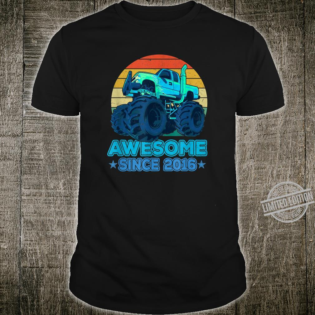 Awesome Since 2016 4 Years Old Monster Truck Shirt