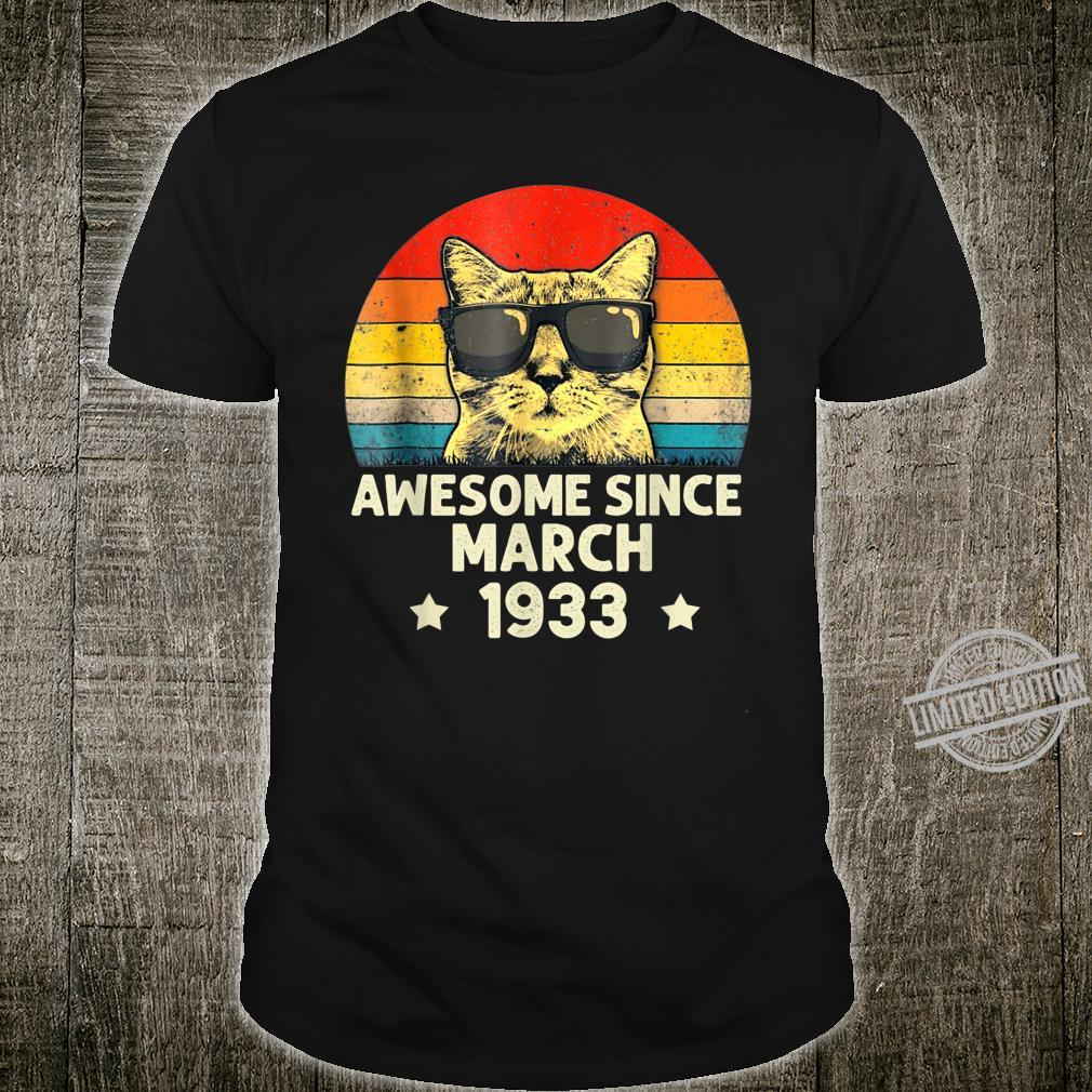 Awesome Since March 1933 87th Birthday Cat Shirt