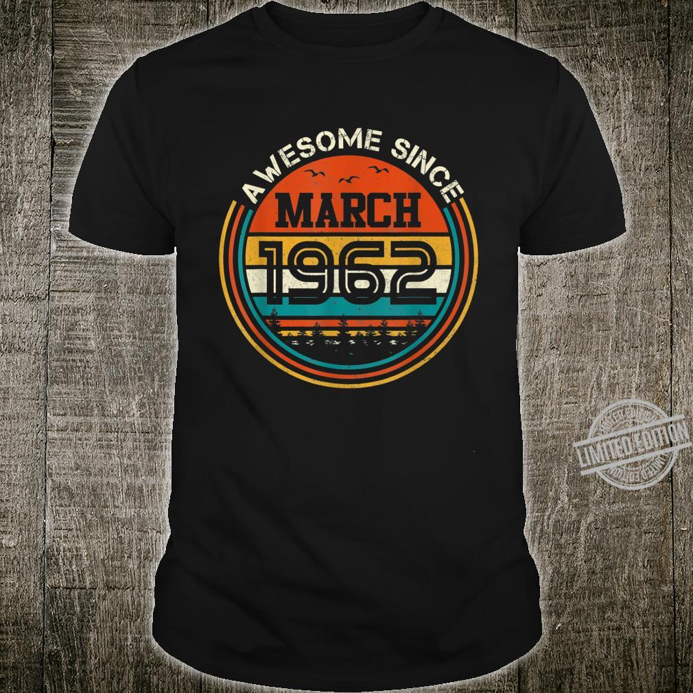 Awesome Since March 1962 58 Years Old Birthday Shirt