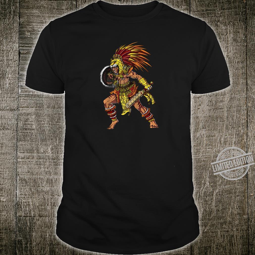 Aztec Jaguar Warrior Native Mexican Mythology Shirt