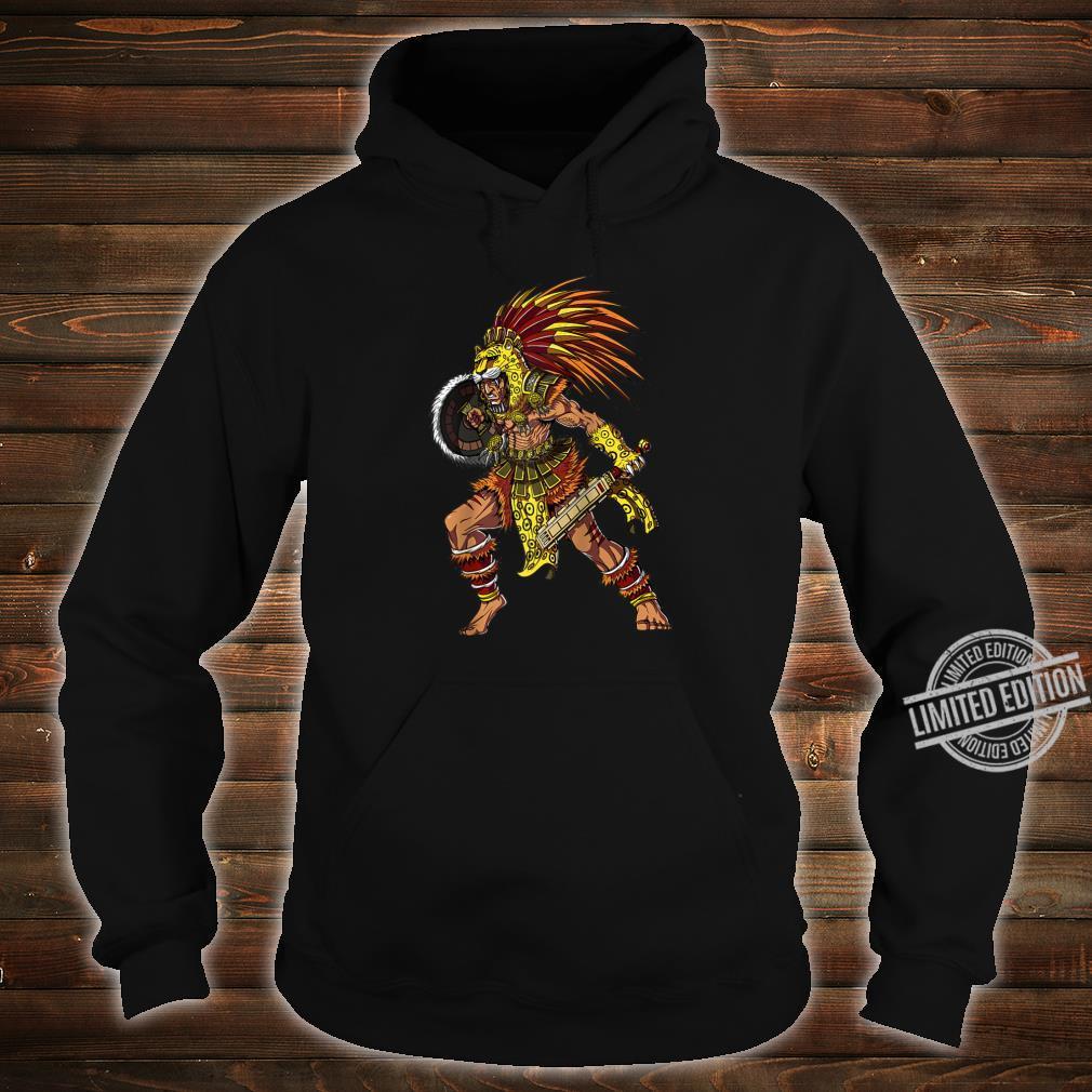 Aztec Jaguar Warrior Native Mexican Mythology Shirt hoodie