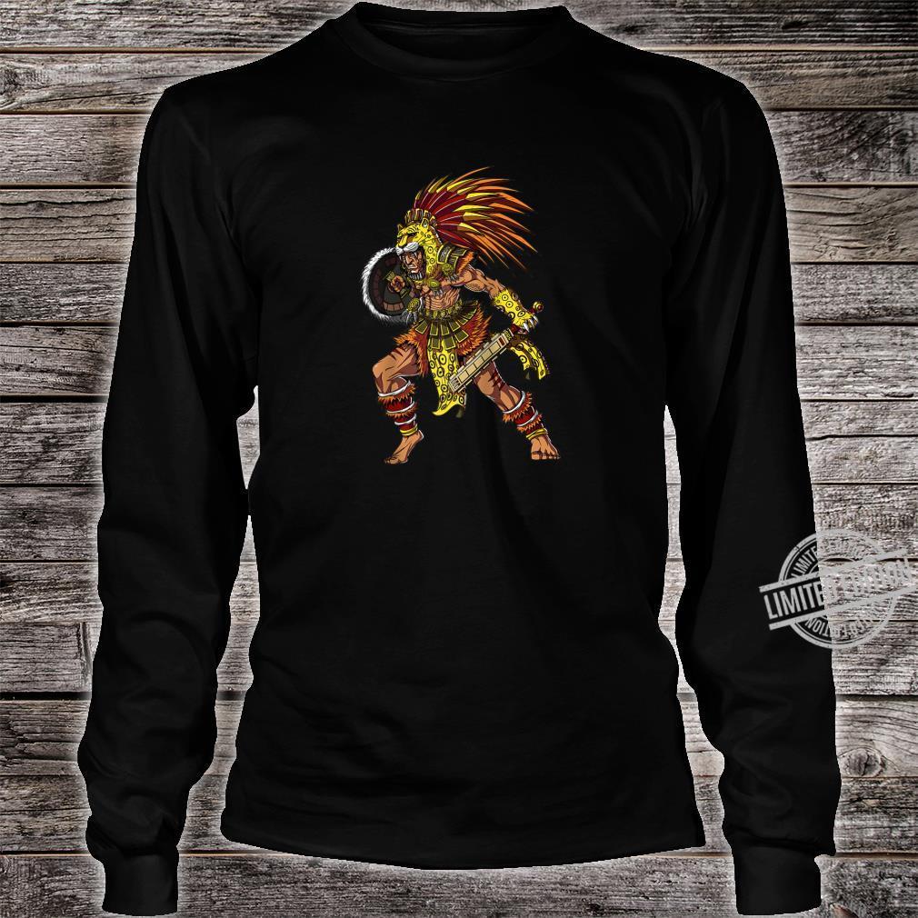 Aztec Jaguar Warrior Native Mexican Mythology Shirt long sleeved