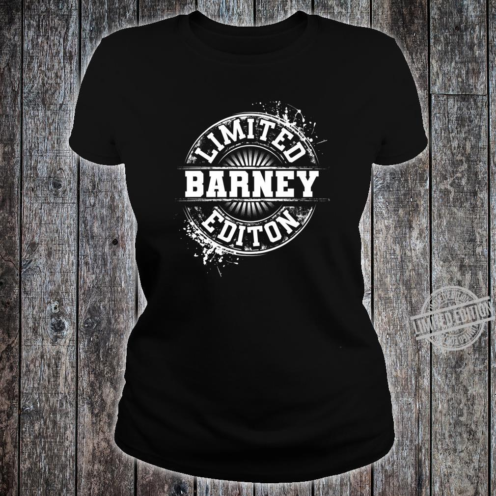 BARNEY Limited Edition Personalized Name Joke Shirt ladies tee