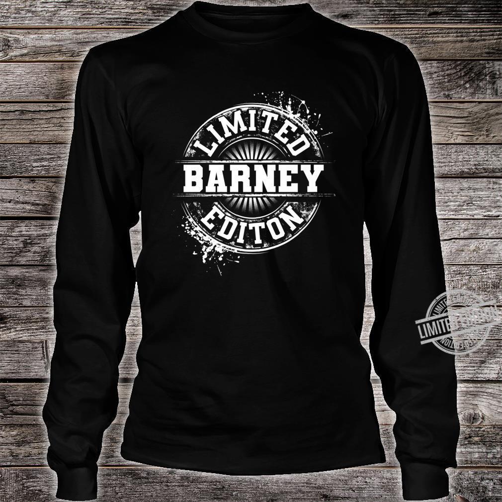 BARNEY Limited Edition Personalized Name Joke Shirt long sleeved