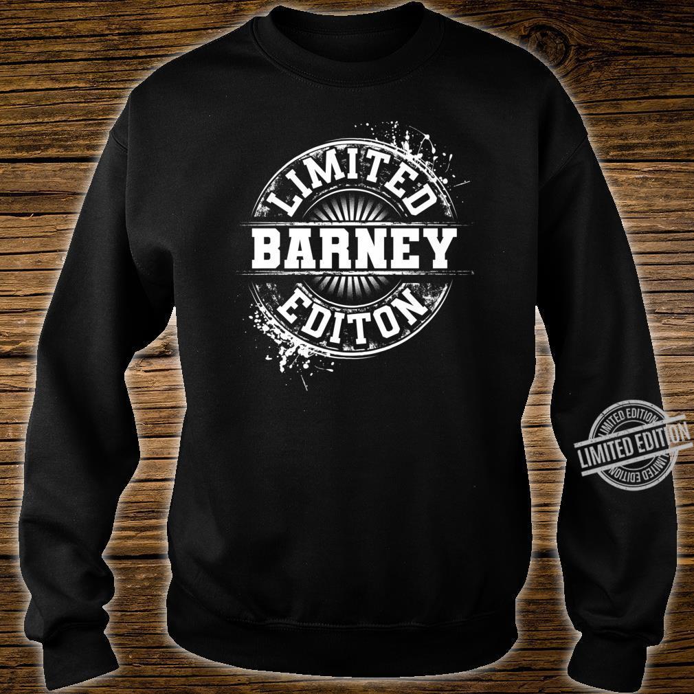 BARNEY Limited Edition Personalized Name Joke Shirt sweater