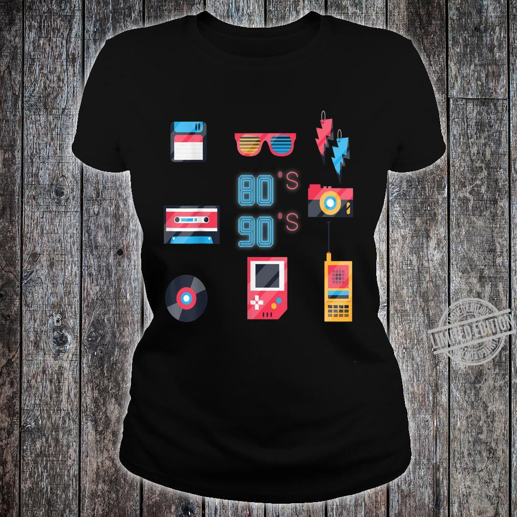 Back to the 80's 90's Technology Old Gadgets Shirt ladies tee