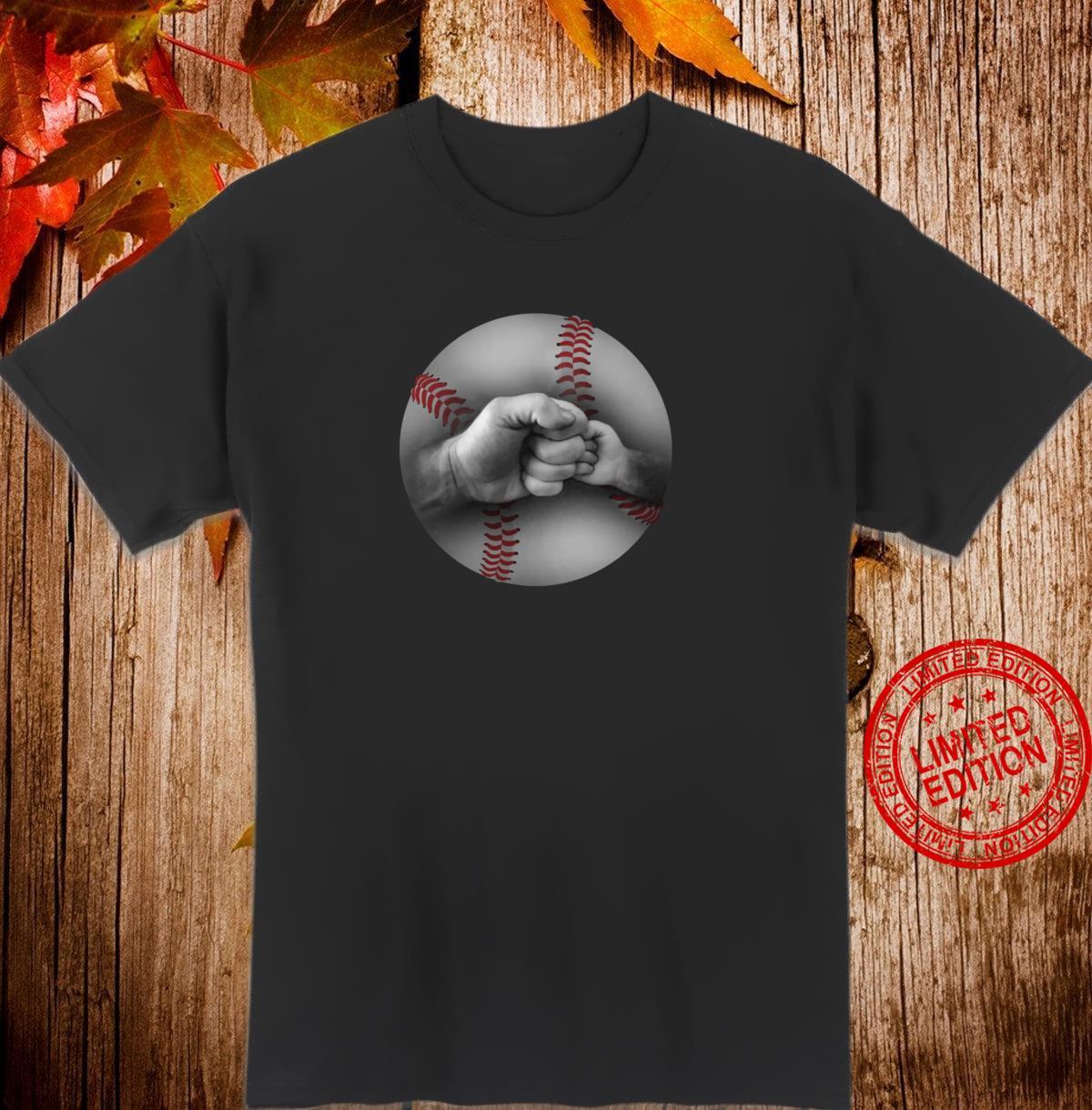 Baseball Dad and Son or Daughter Fist Bump Shirt