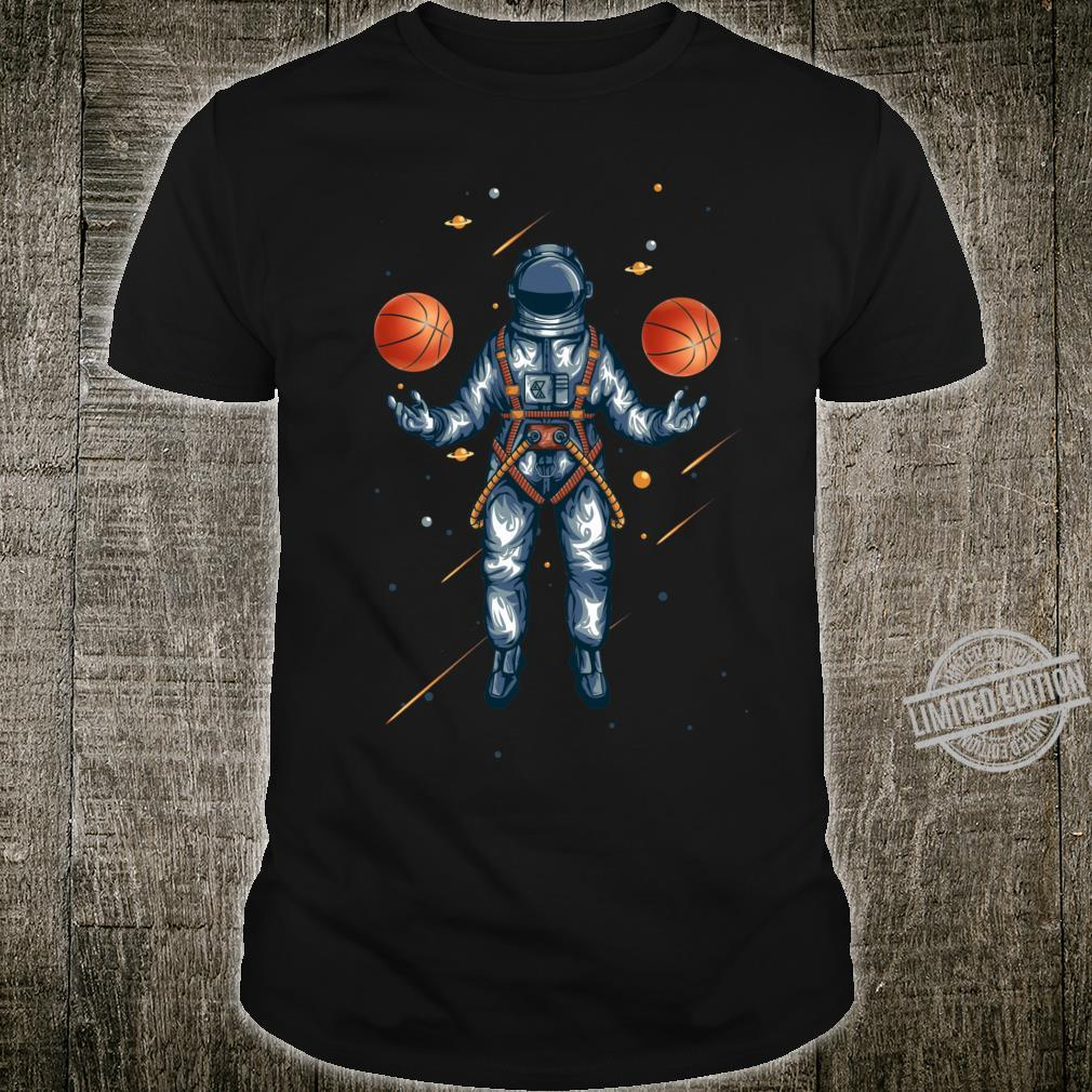 Basketball in Space Juggling Astronaut Shirt