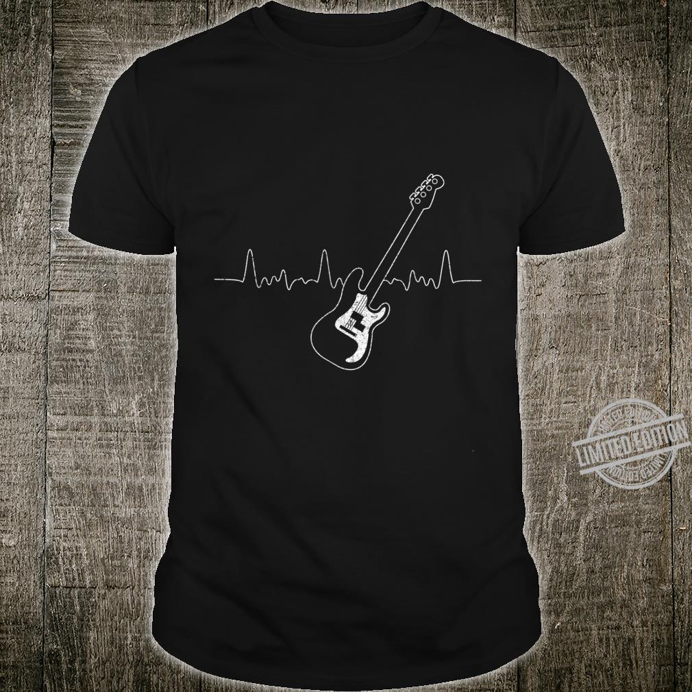 Bassist Musical Instrument Idea Heartbeat Bass Shirt