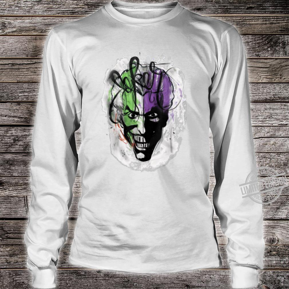 Batman Joker Airbrush Shirt long sleeved