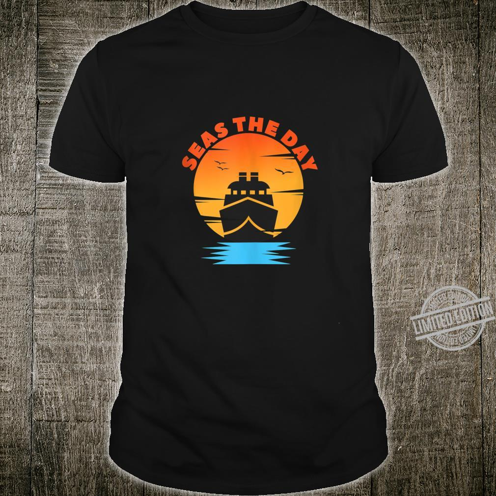 Beach Shirt Seas The Day Sunset Cruise Beach Shirt