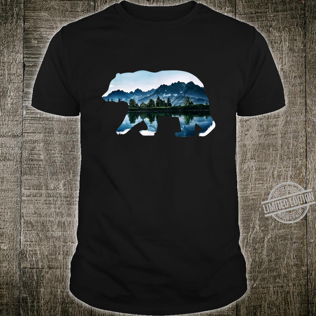 Bear Forest Mountain Lake Design Outdoor Shirt