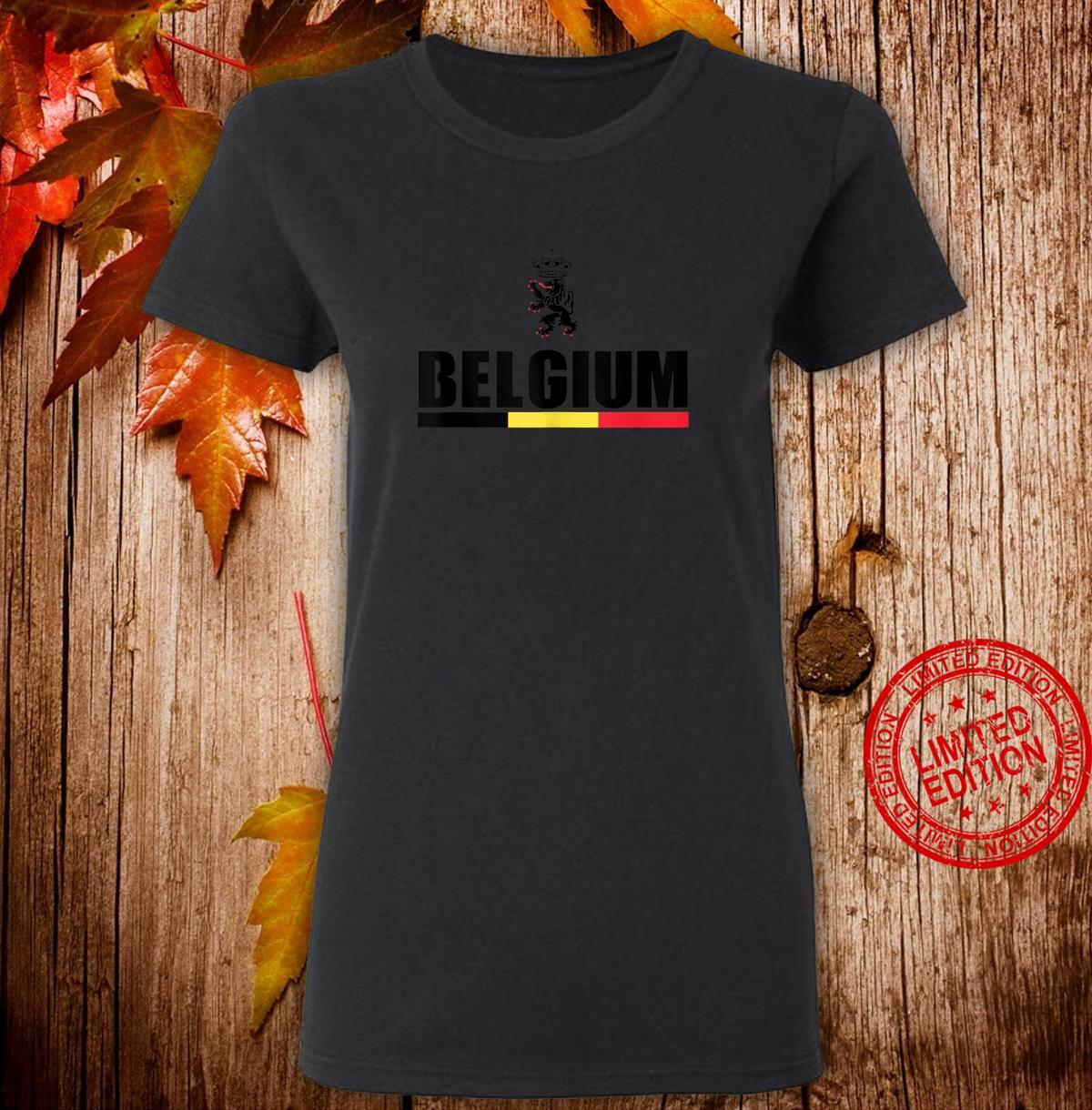 Belgium Football Jersey Shirt Belgian Lion Leo Belgicus Shirt ladies tee