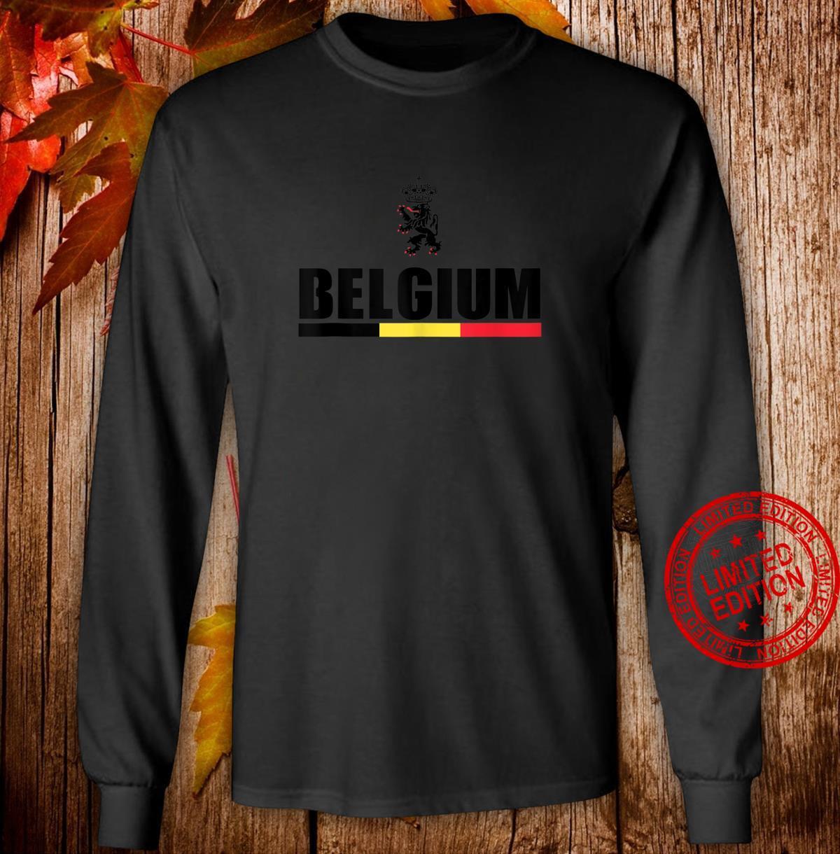 Belgium Football Jersey Shirt Belgian Lion Leo Belgicus Shirt long sleeved