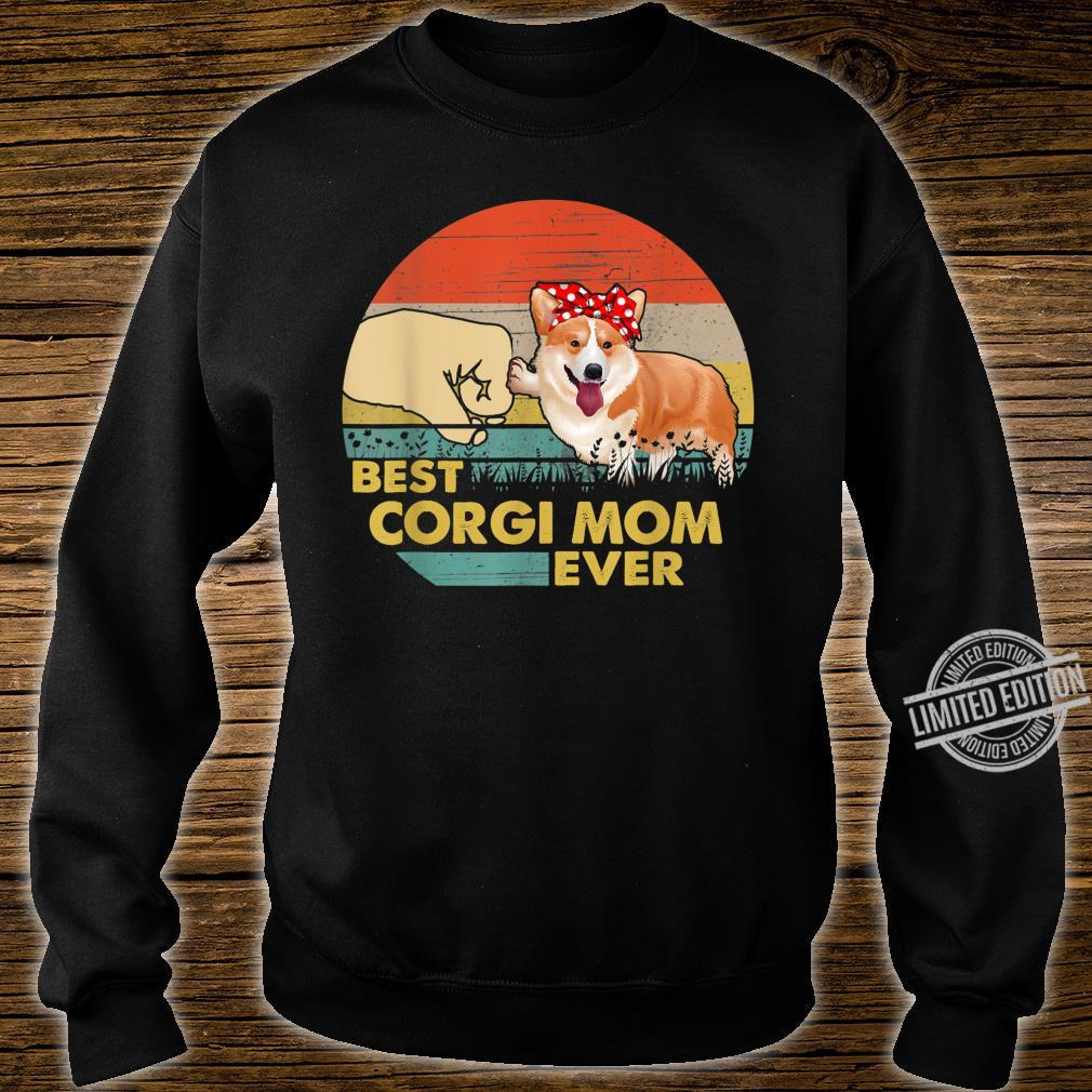 Best Corgi Mom Ever Retro Vintage Mom Mother's Day Shirt sweater