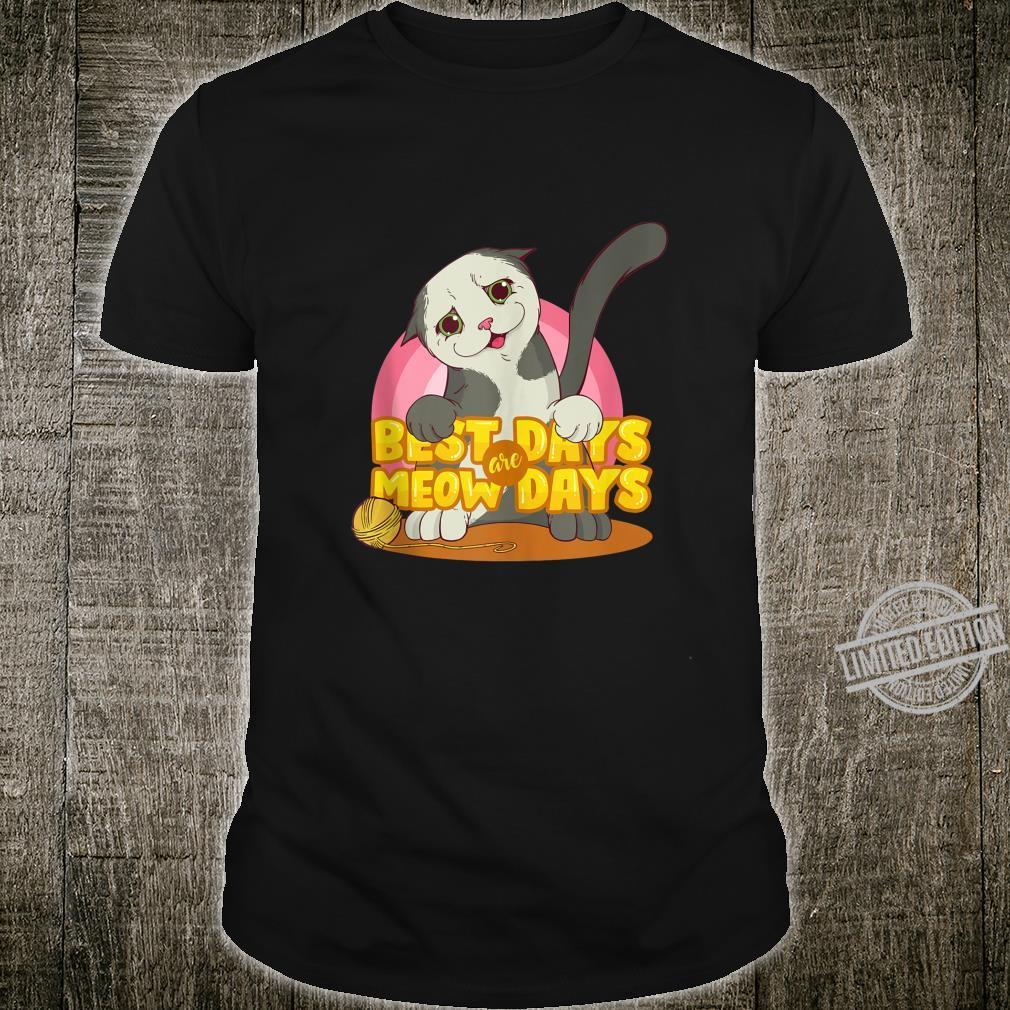 Best Days Are Meowdays Cats Girls Shirt