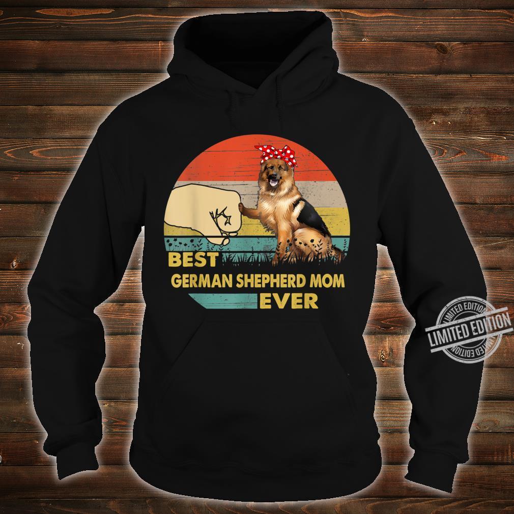 Best German Shepherd Mom Ever Retro Vintage Mom Mother's Day Shirt hoodie