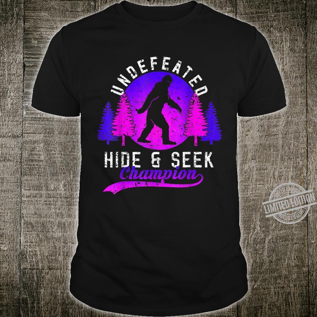 Bigfoots Undefeated Hide & Seek Sasquatch Yeti Shirt