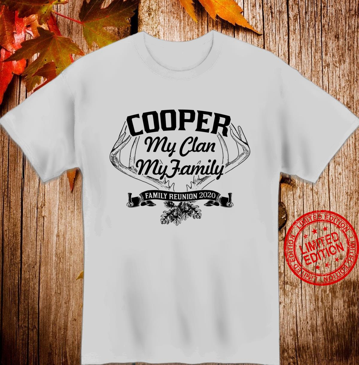 COOPER Family Reunion 2020 Clan Ancestry Tree Personalized Shirt