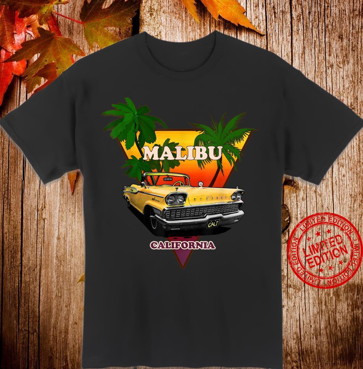 California Malibu Aesthetic Retro Design Vintage Car Shirt