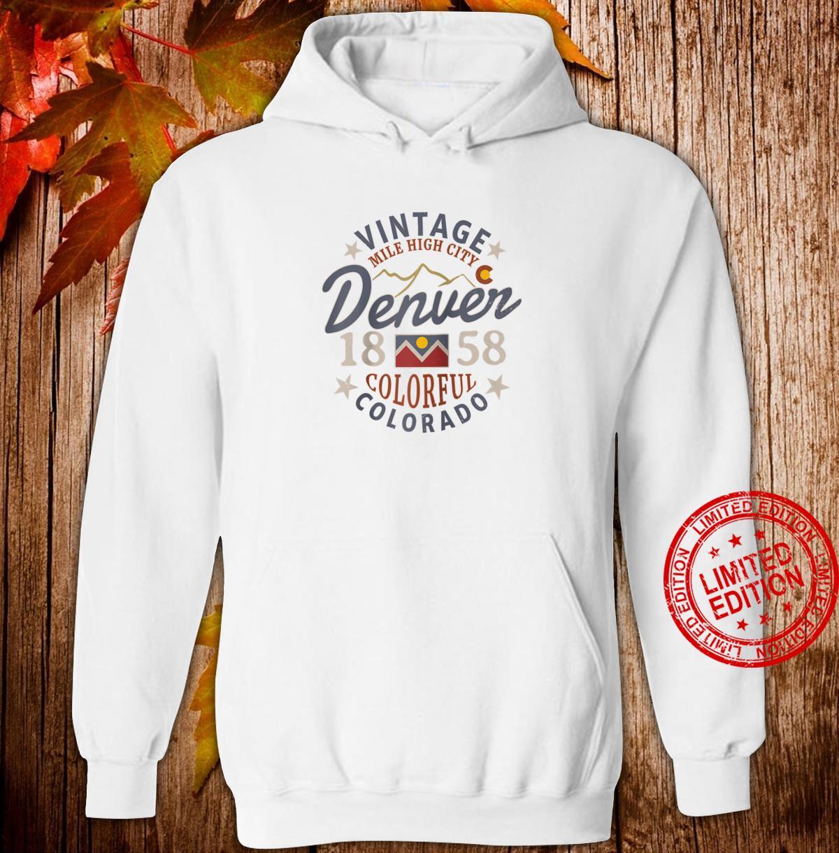 Colorful Colorado Denver Mile High City Souvenir Shirt hoodie