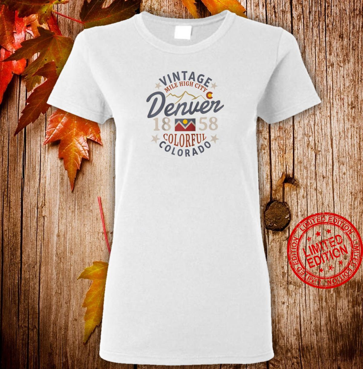 Colorful Colorado Denver Mile High City Souvenir Shirt ladies tee