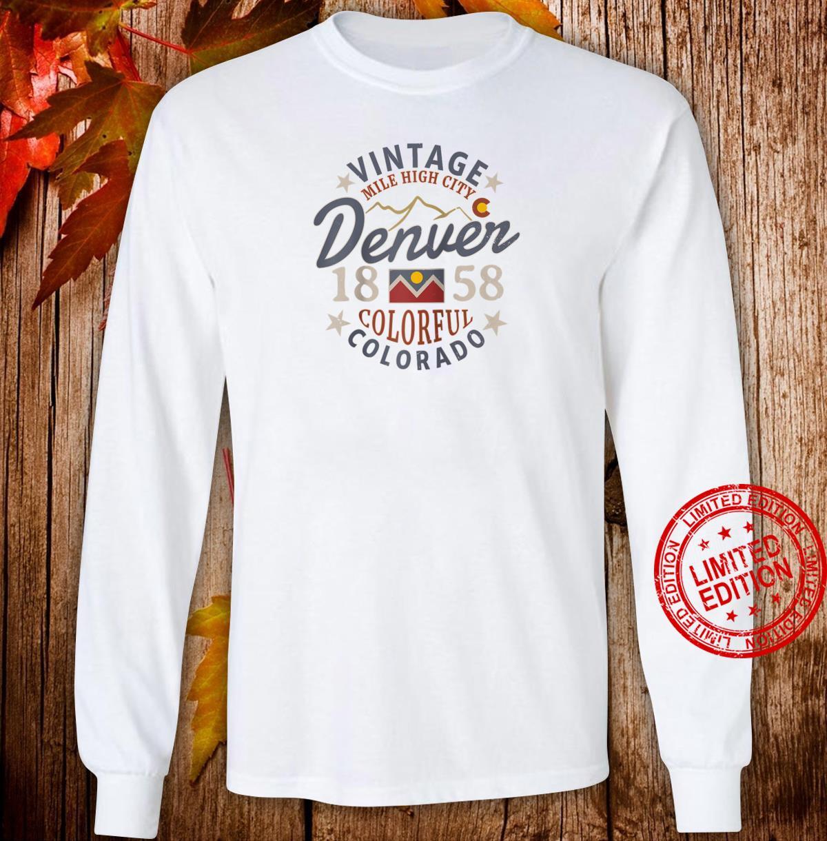 Colorful Colorado Denver Mile High City Souvenir Shirt long sleeved