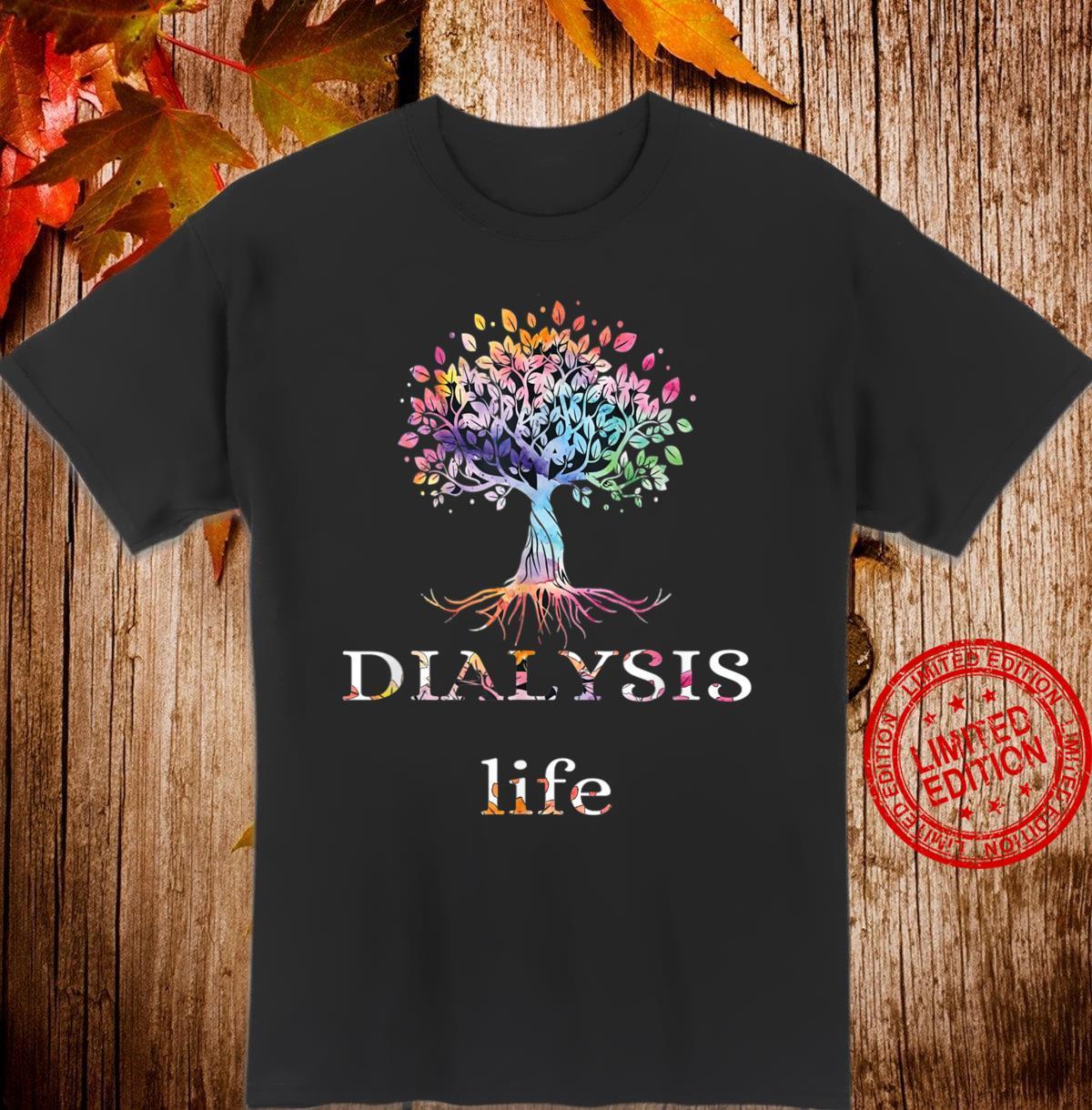 Colorful dialysis Life Vintage Tree Shirt
