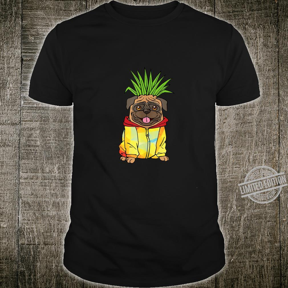 Cool Pineapple Pug Vacation Pup Animal Owner Shirt